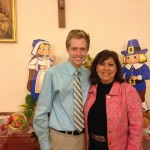 Zach Zeigler and Cheryl Knoch at Rome Campus