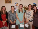 (left to right)  (photo contest winners):  Jenny Palumbo, Kate Hancock, Elise Carter, Kylie McCracken and Sarah Rhodes