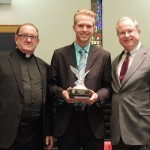 Zachary J. Zeigler w/ Fr. Hogan and President Dougherty