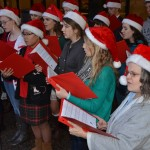 The choir sings Christmas carols prior to the light-up ceremony.