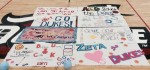 Banners made by student organizations