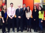 Students in attendance at the SGA Tea Hour (Left to Right) – Erica Liska, Attila Mihalik, Dr. Timothy Austin, Michael Smith, Julianna Stellato, Megan Thompson, Taylor Coniglio