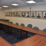 Room 109 features photographs of all past University presidents
