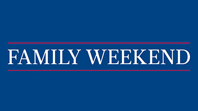Family weekend banner