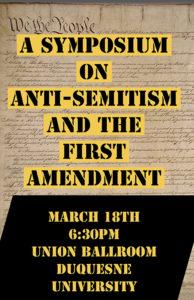 Anti-Semitism Event Poster