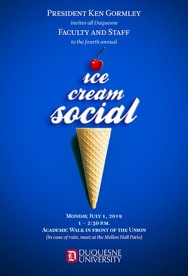 Graphic Poster of Ice Cream Social