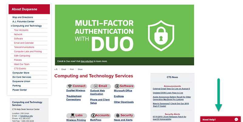 Multi-Factor Authentication with DUO