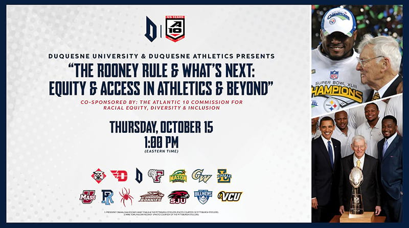Duquesne University & Duquesne Athletics Presents: The Rooney Rule & What's Next: Equity & Access in Athletics & Beyond